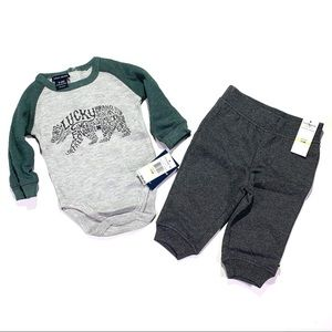 Lucky Brand Boy's Outfit 3-6M Thermal & Fleece